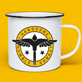 "MR ROBINSON'S ""WINGS"" ENAMEL MUG"