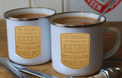 RETRO OUTDOOR EQUIPMENT ENAMEL MUG