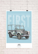LAND ROVER FIRST & LAST EDITION WALL ART PRINTS