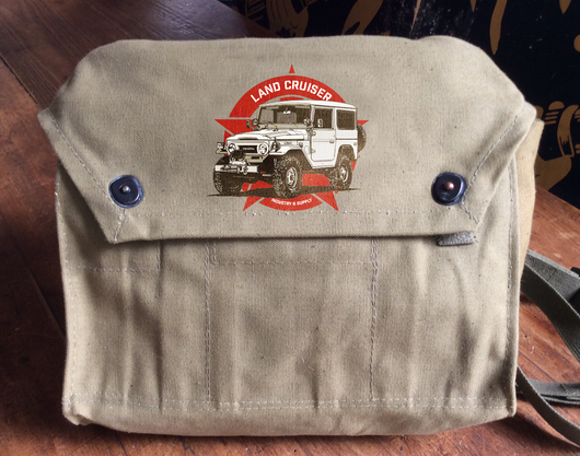 FJ40 LAND CRUISER ARMY SURPLUS MESSENGER BAG (LIMITED AVAILABILITY)