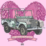 """LOVE OF MY LIFE"" LAND ROVER SERIES LADIES V-NECK T-SHIRT"