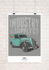INDUSTRY & SUPPLY THAMES DELIVERY WALL ART PRINT
