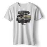 LAND ROVER 70TH BIRTHDAY WHITE T-SHIRT (COLORED)