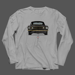 PROJECT SOS  MUSTANG FRONT VIEW LONG SLEEVE T-SHIRT