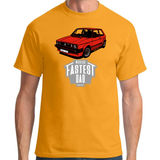 WORLD'S FASTEST DAD MK1 GOLF T-SHIRT