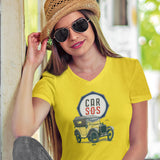 CAR S.O.S. BRAND AUSTIN 7 LADIES V-NECK T-SHIRT