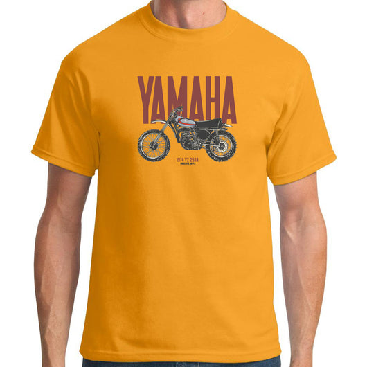 Yamaha Dirt Bike YZ250A Gold T-Shirt