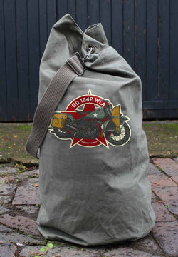 HARLEY DAVIDSON WLA 1942 ARMY SURPLUS KIT BAG - USED CONDITION