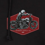 bobber motorbike hoodie close up