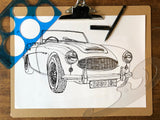 CAR S.O.S. AUSTIN HEALEY BRAND T-SHIRT
