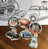 CAR S.O.S. PANORAMIC COLOURING SHEETS