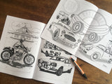 AUTOMOTIVE COLOURING BOOK