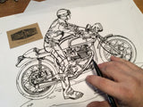 JACKS HILL CAFE RACER ART PRINT