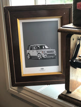 LAND ROVER DISCOVERY FOUR WALL ART PRINT