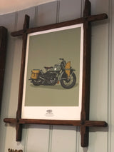 HD 1942 WLA MOTORCYCLE WALL ART PRINT