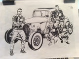 hotrod racing crew artwork