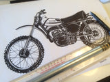 Yamaha 1974 YZ 250A Drawing