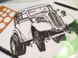 Ford Anglia Drawing