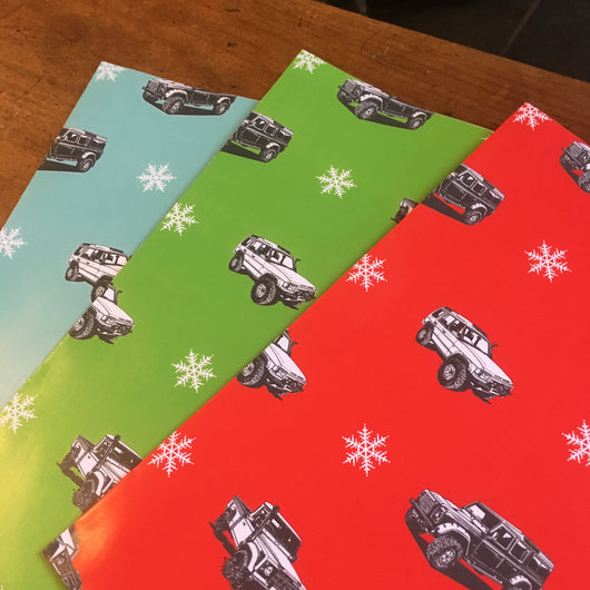 LAND ROVER CHRISTMAS WRAPPING PAPER