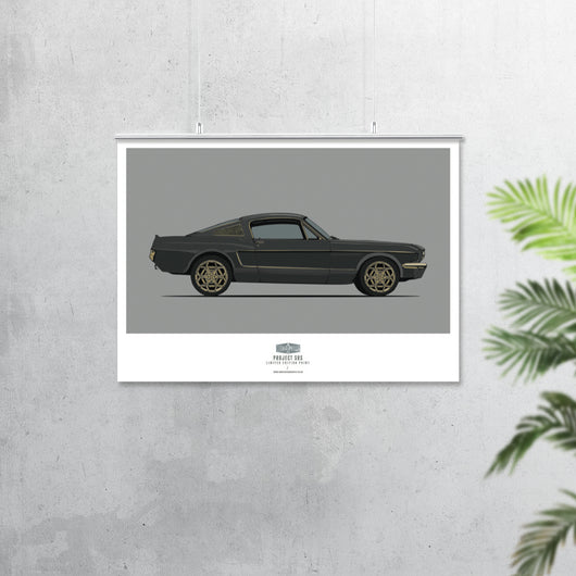 PROJECT SOS MUSTANG (SIDE VIEW) ART PRINT