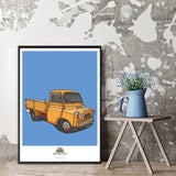 JACKS HILL CAFE BEDFORD PICKUP ART PRINT