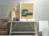 JACKS HILL CAFE ERF LORRY ART PRINT
