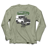 LAND ROVER 70TH BIRTHDAY KHAKI LONG SLEEVE T-SHIRT (BLACK & WHITE)