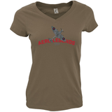 AERO LEGENDS UTILITY TD314 SPITFIRE LADIES V-NECK T-SHIRT