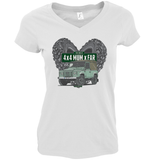 THE BEST 4 X 4 MUM X FAR V-NECK DEFENDER T-SHIRTS