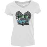 THE BEST 4 X 4 MUM X FAR V-NECK T-SHIRT