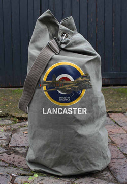 LANCASTER BOMBER ARMY SURPLUS KIT BAG - USED CONDITION