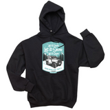"OTHER LAND ROVER ""LET IT SNOW"" ICE BLUE HOODIE"