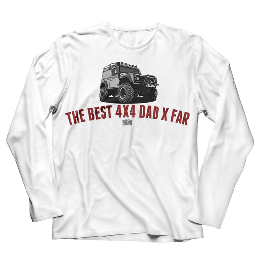 LAND ROVER BEST 4X4 DAD DEFENDER LONG SLEEVE T-SHIRT