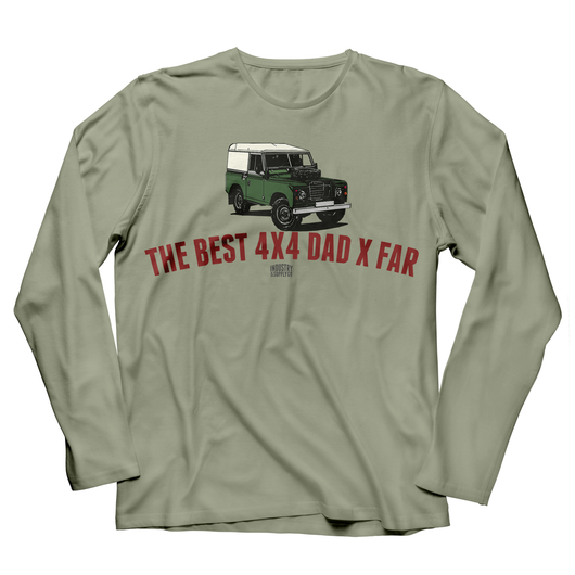 LAND ROVER BEST 4X4 DAD SERIES LONG SLEEVE T-SHIRT