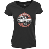 LAND ROVER DISCOVERY LADIES V-NECK T-SHIRT