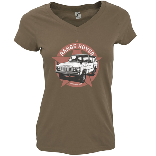 LAND ROVER RANGE ROVER LADIES V-NECK T-SHIRT