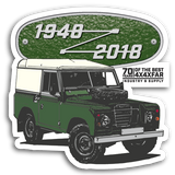 LAND ROVER 70TH BIRTHDAY STICKERS
