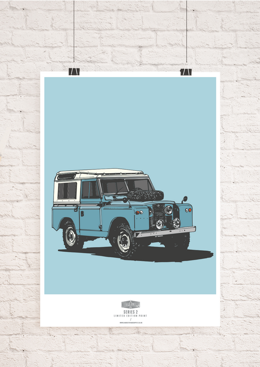 LIMITED EDITION LAND ROVER SERIES TWO ART PRINT