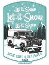 "LAND ROVER ""LET IT SNOW"" JET BLACK HOODIE"