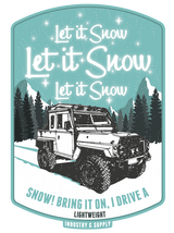 "LAND ROVER ""LET IT SNOW"" ICE BLUE SWEATSHIRT"