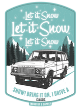 "LAND ROVER ""LET IT SNOW"" ICE BLUE HOODIE"
