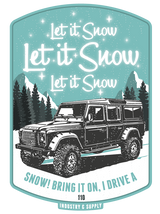 "LAND ROVER ""LET IT SNOW"" BLACK LONG SLEEVE T-SHIRT"