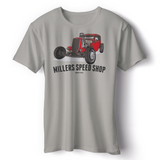 FRONT PRINT MILLERS SPEED SHOP T-SHIRT