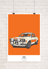 LIMITED EDITION FORD ESCORT MK1 RS2000 ART PRINT