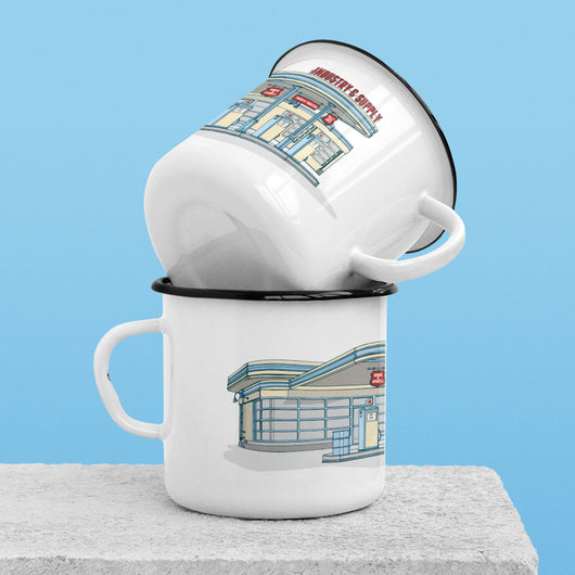 GAS STATION ENAMEL MUG