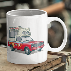 CAR S.O.S. ICE CREAM TRUCK CERAMIC MUG