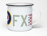 AERO LEGENDS SPITFIRE MARKINGS ENAMEL MUG