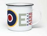 AERO LEGENDS 2-SEATER SPITFIRE MARKINGS ENAMEL MUG