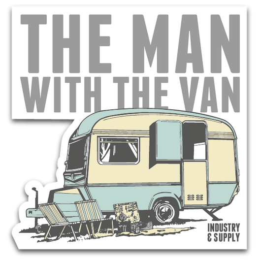 THE MAN WITH THE VAN FREE STICKERS