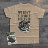 LAND ROVER WE DON'T STOP T-SHIRT